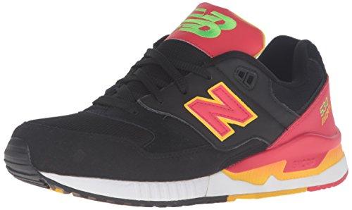 New Balance Herren M530pin Sneaker, 40.5 EU Schwarz/Rot/Gelb