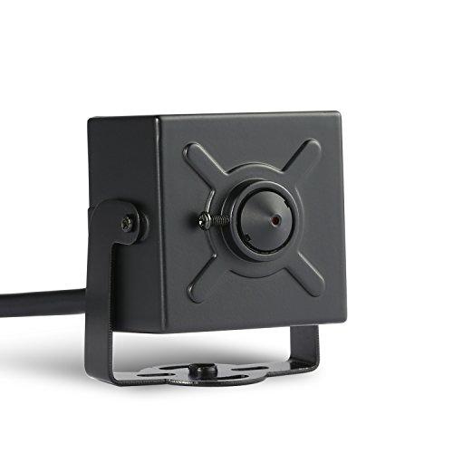 Revotech® - POE HD 1920 x 1080P 2.0MP Innenraum IP Kamera Mini Sicherheit Kamera ONVIF P2P CCTV Kamera (I706-2-POE Schwarz) Mini Cctv-kameras