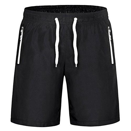 Byqny pantaloncini sportivo casual pantaloni da spiaggia sopra il ginocchio asciugatura rapida fitness in esecuzione pantaloncini da coppia bianco #uomo l