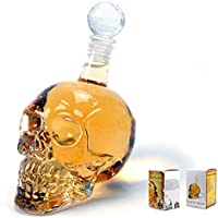 Creativo Crystal Skull Head Glass Transparente Champagne Cocktails Cerveza Botella de vino de café Partido Drinkware Halloween Gift (Color: transparente)