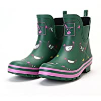 Evercreatures Womens Ankle Wellies Chicken Meadow Wellies