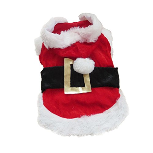 Hrph Christmas Clothes Puppy Dog Santa Claus Costume XXS/XS/S/M/L