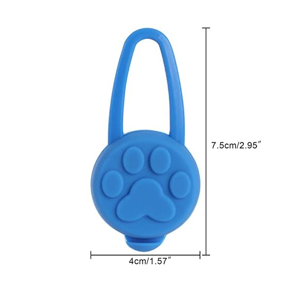 Top Munster Flashing SpotLit Cat / dog Collar Light,LED Pet Safety Light Luminous Pendant for Outdoor Safety (2 Pcs Red + Blue) 2
