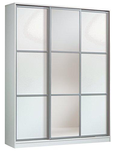 Armario ropero con espejos color blanco