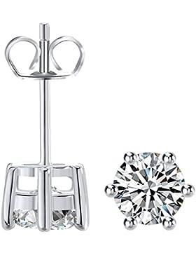 Ohrringe für Damen Silber 925 3A Zirkonia Ohrschmuck für Frau Ohrstecker Mädchen Frau Set Stecker Schmuckset m3crystal...