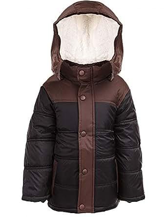 24brands Kinder Jungen Mädchen Jacke Winterjacke Steppjacke warm gefüttert mit Kapuze zweifarbig - 2988, Größe:152;Farbe:Schwarz