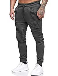 Yidarton Hommes Jogging Pantalon Casual Slim Fit Pantalon de Sport Jogger Survêtement Sweat Pants