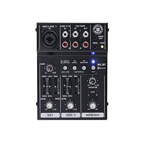 Stomp Box Topp Pro MX.3BT 3-Kanal Mini Mixer mit USB, EQ und Bluetooth