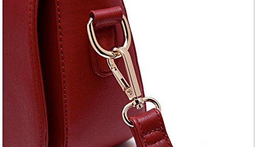 Pacchetto personalizzato di moda, versione coreana dello zaino spostato spalla mini, sacchetto semplice aria selvatica ( Colore : Rosso ) Marrone