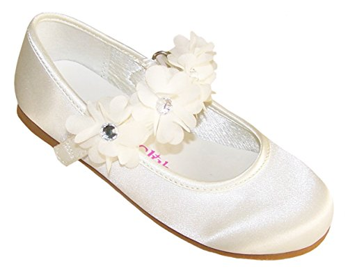 Mädchen Durchgängies Plateau Sandalen mit Keilabsatz, Elfenbein - elfenbeinfarben - Größe: 34 EU ()