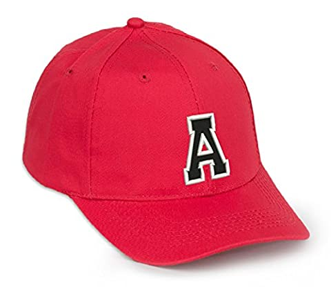 Casual Cotton Baseball Cap Alphabet A-Z Red Caps black letter Snap Back Hat Hats Snapback (A)