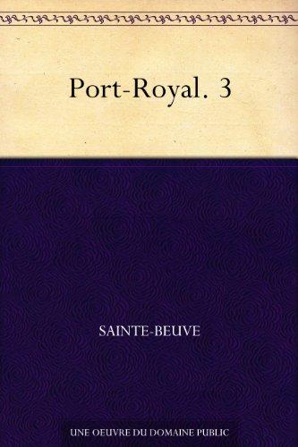 Couverture du livre Port-Royal. 3