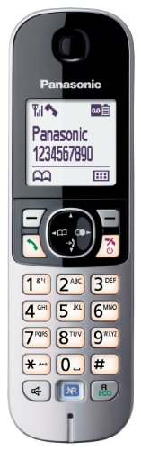 Panasonic KX-TG6821GB DECT-Schnurlostelefon (4,6 cm (1,8 Zoll) Grafik-Display) mit Anrufbeantworter schwarz - 5