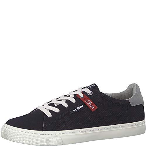 s.Oliver Herren Skater Sneaker 13630-22,Männer Sportschuh,Low-Top,Navy,44 EU Mid Top Schuhe