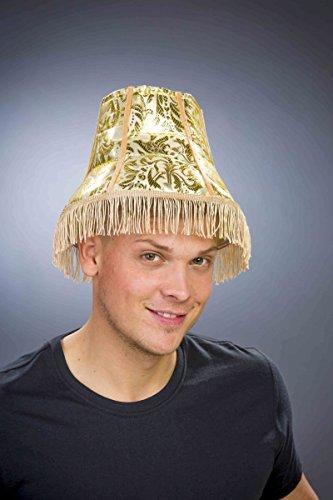 Festartikel Müller Kostüm Zubehör Hut Lampenschirm Gold KW59 Karneval Fasching Party (Lampenschirm Hut Kostüm)