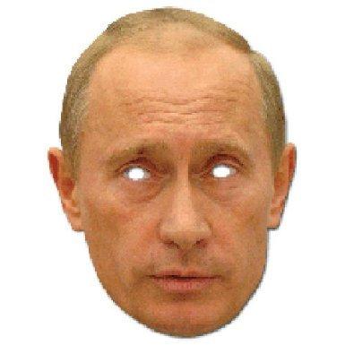 Angie und Vladi Maske Doppelpack/1D Pappmaske Vladimir Putin und Angela Merkel