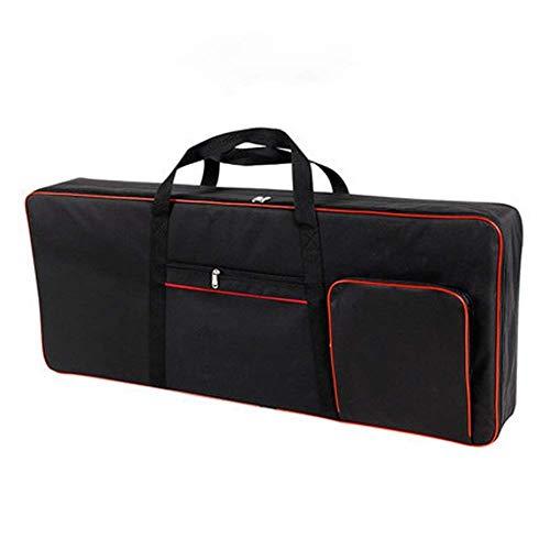 QEES 61 Tastatur Keyboard-Tasche, E-Piano-Tasche, 600D Oxford-Stoff mit 10 mm Baumwolltasche für elektrische Klaviere HYGJB54 (Schwarz)