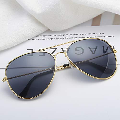 Outdoor Sonnenbrille Polarisierter Uv-schutz Aviator Unisex,anti Glare Sport Geeignet Für Wandern Radfahren-rose Gold Frame Schwarz Grau Stück 14.5x13.2cm(6x5inch)