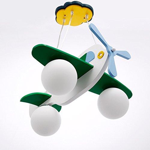 Guo Kinderzimmer-Lichter Jungen-Raum-Flugzeug-Lichter Kronleuchter-Pers5onlichkeit-kreative Eisen-Lampen E27 Lampen-Hafen