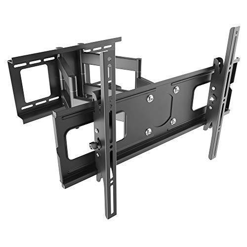 RICOO TV Wandhalterung R06 Universal für 40-75 Zoll (ca. 102-191cm) Schwenkbar Neigbar | Wand Halter Aufhängung Fernseh Halterung auch für Curved LCD & LED Fernseher | VESA 300x100 600x400 | Schwarz