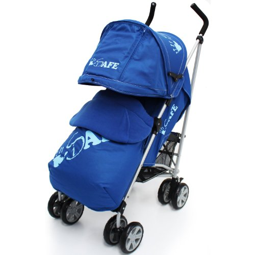 iSafe buggy Stroller Pushchair - Navy Complete With Footmuff, HeadSupport and Raincover