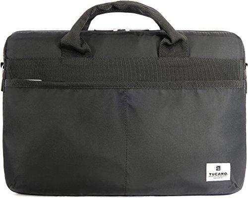 Gravis Tasche (Tucano Shine Slim Nylon-Laptoptasche für 38 cm (15 Zoll) Apple MacBook Pro und Ultrabook schwarz)