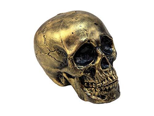 showking Halloween Totenkopf Daffy, Gold, 16cm