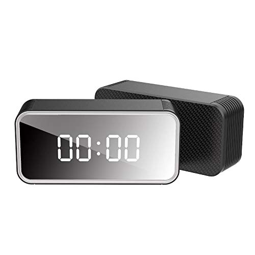 Yunt-11 Reloj de cámara Oculto, cámaras 4K HD niñera y cámaras Ocultas WiFi, cámara de Seguridad con visión Nocturna y Detector de Movimiento, Reloj Despertador con cámara para el hogar y la Oficina