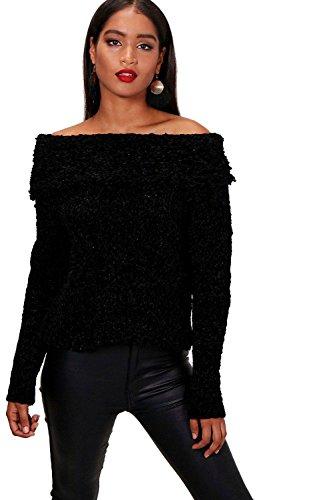 Noir Femmes Pull épais Kaley Bardot Noir