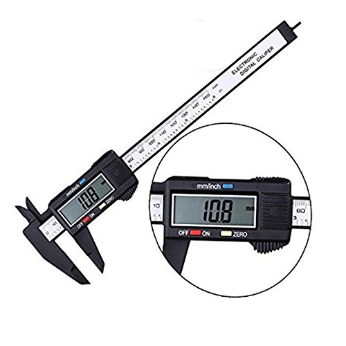 150mm/6inch LCD Digital Electronic Carbon Fiber Vernier Caliper Gauge Micrometer Precise Measuring Ruler