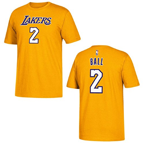 Camiseta adidas del jugador de Los Angeles Lakers Lonzo Ball - 3720A-7329Q6L, camisa, Large, Dorado