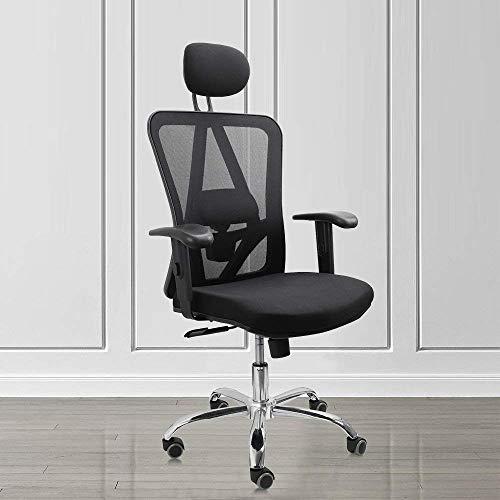 Vesgantti, sedia da ufficio ergonomica, con schienale alto, design ergonomico per supporto lombare e poggiatesta regolabile, sedia da scrivania ideale per la casa e l\'ufficio