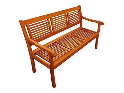 SAM® Garten-Bank Cordoba aus Akazie-Holz, 150 cm Breite, 3 Sitzer Holzbank, Balkon-Bank aus Akazie-Holz geölt, Garten-Möbel in braun, Massiv-Holz-Bank für Terrasse - 4