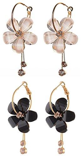 Shining Diva Fashion Jewelry 18K Gold Plated Combo of 2 Stylish Fancy Party Wear Traditional Earrings For Women & Girls