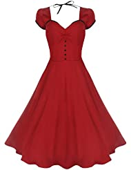 Lindy Bop 'Bella' Classy Vintage 1950's Rockabilly Style Swing Party Jive Robe