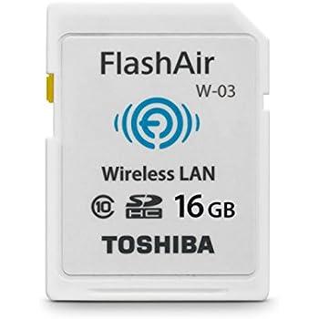 Toshiba FlashAir W-03 16GB Wireless SD Flash Memory Card Wi-Fi Full HD - SD-F16AIR03(8