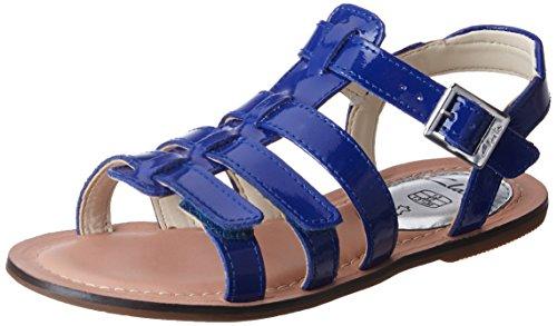 Clarks Loni Joy Jnr, Mädchen Knöchelriemchen Sandalen, Blau (Blue Pat Lea), 39 EU (5.5 Kinder UK)
