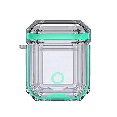 SO-buts for Airpods 1 Fall Zusätze Stoß Schützende weiche Silikon Fall Abdeckungs Haut, zweifarbige Silikonhülle mit 1 Erzeugung(Minzgrün)