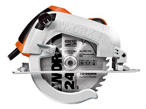 WORX WX445 Handkreissäge 1600W - mit präziser Schneidleistung, Laserführungssystem, einstellbarem Schnittwinkel & Parallelanschlag - 190mm Sägeblatt mit 24 Zähnen