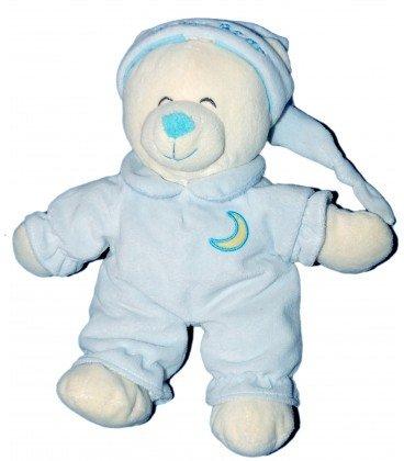 Doudou peluche OURS bleu Gipsy Baby Bear