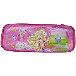 Saamarth Impex 3D Disney Princess Girl Marked Pink Color Zipper Clousre Pencil Case/bag SI-4698