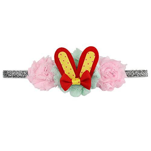 1 Stück Oster Hasen Ohren Stirnband/Dorical Baby Kleinkinder Ostern Stirnbänder für Ostern Party Birthday Dekoration Haarreif Stirnband Geschenk Haarschmuck mit Ohren für Ostern(B)