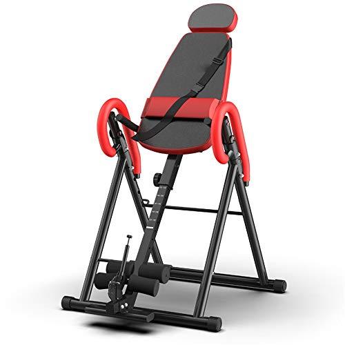 LULUVicky-Fitness Inversionsbank Multifunktions-Schutzgürtel zurück Einstellbare Inverted Maschine Heavy Duty Teile Stretcher Maschine for die Heim Übung (Farbe : Rot, Größe : 80x80x80cm)