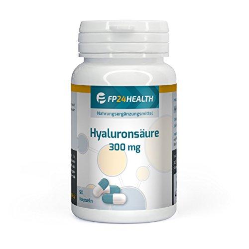 FP24 Health Hyaluronsäure 300mg - Sonderpreis - 90 Kapseln - Hochdosiert - Anti-Aging - Gelenke - Top Qualität - Made in Germany