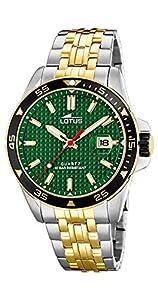 Lotus Reloj Analógico para Hombre de Cuarzo con Correa en Acero Inoxidable 18652/2