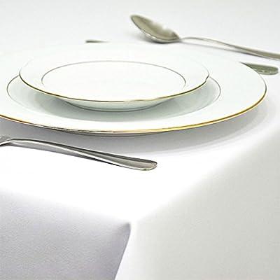 Tischdecke, quadratisch, Hochzeit 100% Polyester Feste Farben Weihnachten Party Dekoration von Table_Linen - Gartenmöbel von Du und Dein Garten