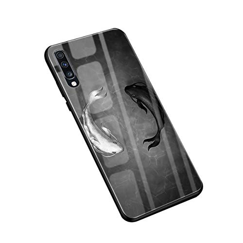 Hülle Compatible with Samsung Galaxy A70 Hülle TPU Grenze Gehärtetes Glas Rückseitige Cover Anti-Scratch Schutzhülle für Samsung Galaxy A70 Phone 2019 - Süßes Tier (A70, 16)