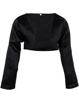 Festliche Mädchen Bolero Jacke in Weiss oder Schwarz