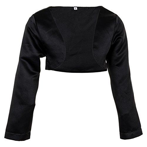 Prelest Festliche Mädchen Bolero Jacke in Weiß oder Schwarz für Fast jedes Kleid M114sw Schwarz 10/128 / 134