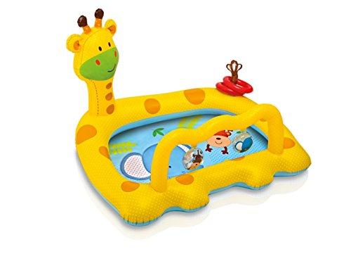 Intex 57105 - Piscina Baby Giraffa, 112 x 91 x 72 cm, Giallo/Azzurro